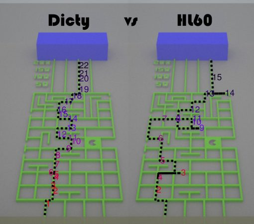 IMAGE: DICTY AND HL60 CELLS ARE RACING THROUGH MICROFLUIDIC MAZES. CREDIT: MONICA SKOGE